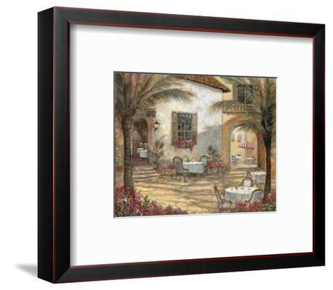 Courtyard Ambiance-Ruane Manning-Framed Art Print