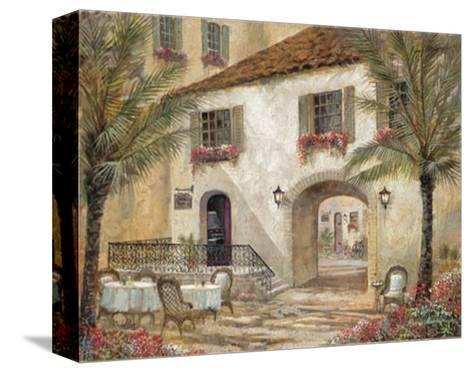 Gentle Palms and Wine-Ruane Manning-Stretched Canvas Print