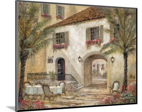 Gentle Palms and Wine-Ruane Manning-Mounted Art Print