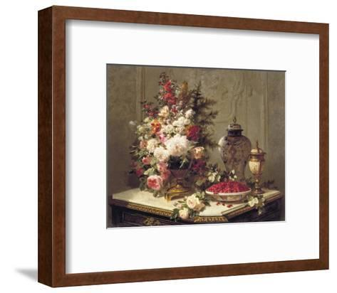 Tulips and Other Flowers-Jean Baptiste Claude Robie-Framed Art Print
