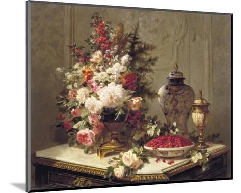 Tulips and Other Flowers-Jean Baptiste Claude Robie-Mounted Art Print