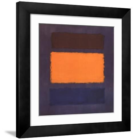 Untitled, Brown and Orange on Maroon-Mark Rothko-Framed Art Print