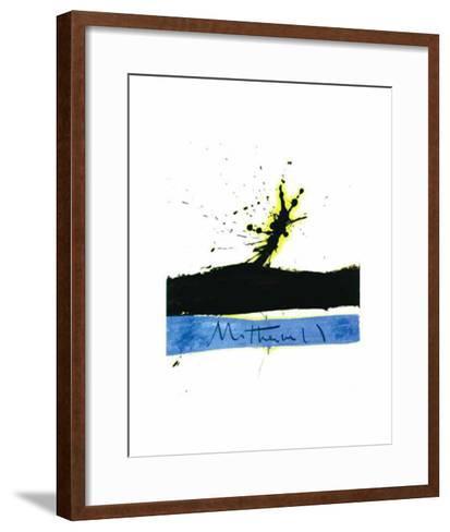 Beside the Sea No. 1, c.1962-Robert Motherwell-Framed Art Print