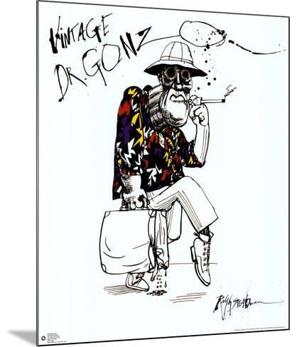 Fear And Loathing In Las Vegas-Ralph Steadman-Mounted Poster