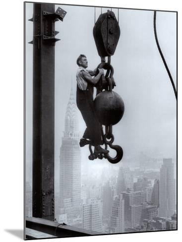 Construction Worker on the Empire State Building--Mounted Art Print