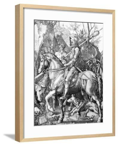 The Knight, Death and The Devil , c.1514-Albrecht D?rer-Framed Art Print