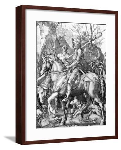 The Knight, Death and The Devil , c.1514-Albrecht D?rer-Framed Art Print