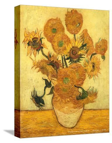 Vase of Fifteen Sunflowers, c.1889-Vincent van Gogh-Stretched Canvas Print