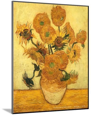 Vase of Fifteen Sunflowers, c.1889-Vincent van Gogh-Mounted Art Print