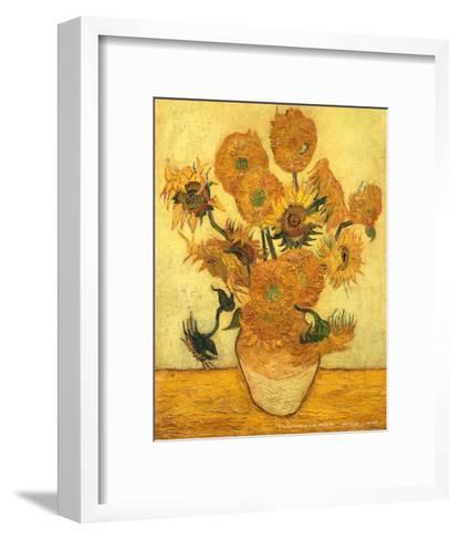Vase of Fifteen Sunflowers, c.1889-Vincent van Gogh-Framed Art Print