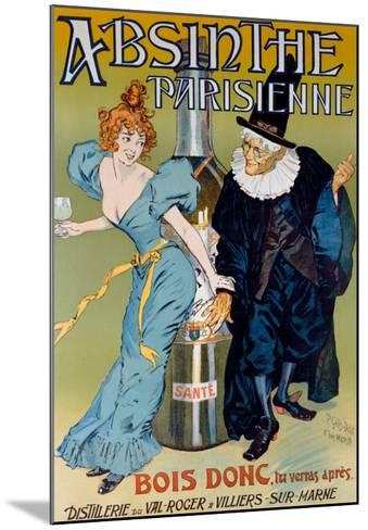 Absinthe Parisienne- Gelis-Didot & Maltese-Mounted Giclee Print