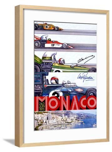 Monaco Grand Prix F1 Race, c.1973--Framed Art Print