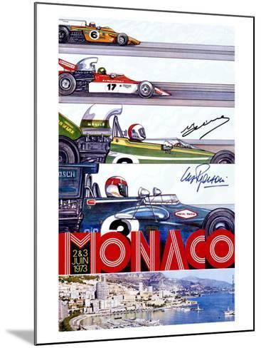 Monaco Grand Prix F1 Race, c.1973--Mounted Giclee Print
