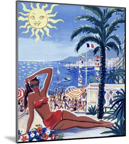 Cote d'Azur--Mounted Giclee Print