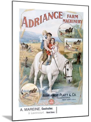 Adriance Farm Harvesting Machinery--Mounted Giclee Print