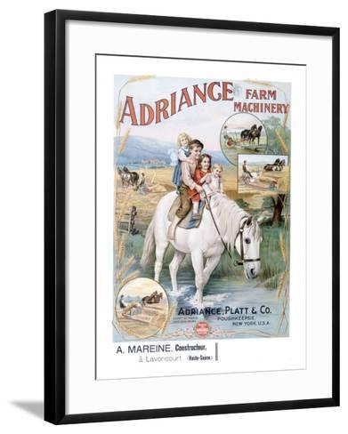 Adriance Farm Harvesting Machinery--Framed Art Print
