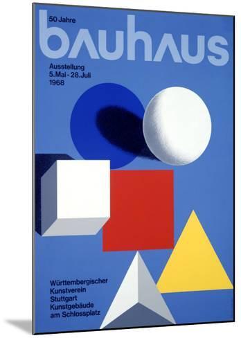 Bauhaus Ausstellung, 50 Jahre--Mounted Giclee Print