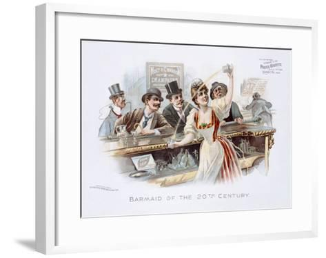 Bar Maid of the 20th Century--Framed Art Print