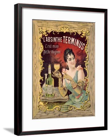 Absinthe Aperitif Liqueur--Framed Art Print