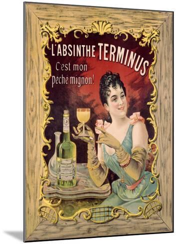 Absinthe Aperitif Liqueur--Mounted Giclee Print