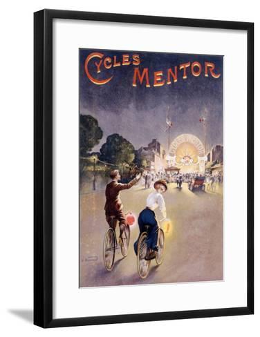 Bicycles Mentor Carnival Circus--Framed Art Print