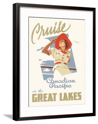 Canadian Pacific Oceanline Lakes--Framed Art Print