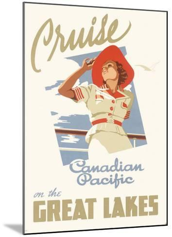 Canadian Pacific Oceanline Lakes--Mounted Giclee Print