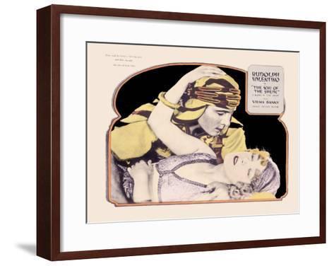 Rudolph Valentino, Son of the Sheik--Framed Art Print