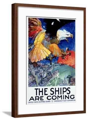 WWII, Merchant Marine Shipping--Framed Art Print