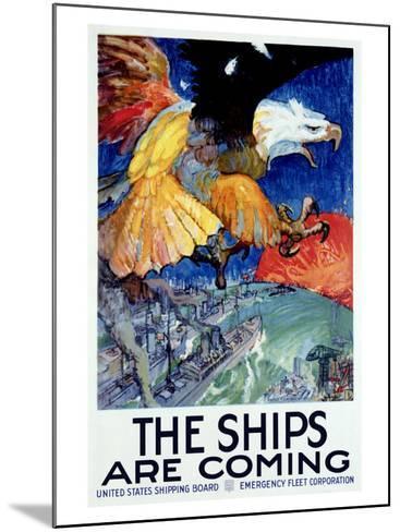 WWII, Merchant Marine Shipping--Mounted Giclee Print