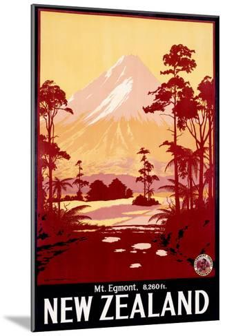 Mount Egmont, New Zealand--Mounted Giclee Print