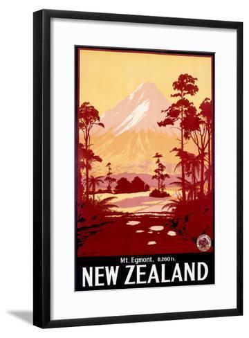 Mount Egmont, New Zealand--Framed Art Print