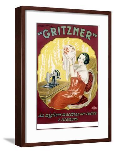 Gritzner Sewing Machine--Framed Art Print