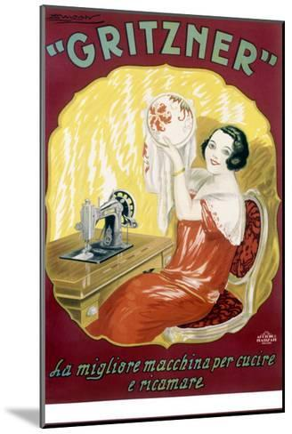 Gritzner Sewing Machine--Mounted Giclee Print