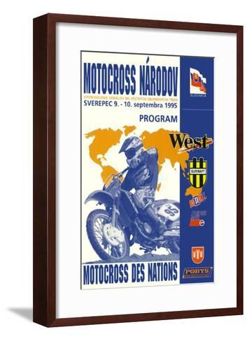 Narodov Nations of Motocross--Framed Art Print