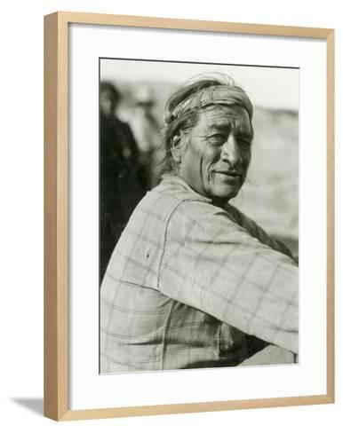 Union Pacific, Navajo Indian--Framed Art Print
