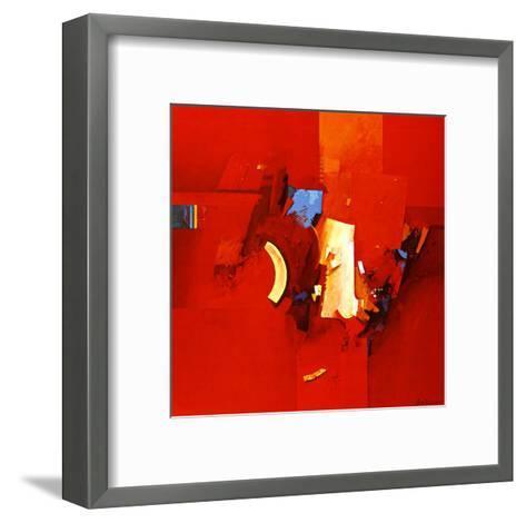 Fighting Blue-Theo Den Boon-Framed Art Print