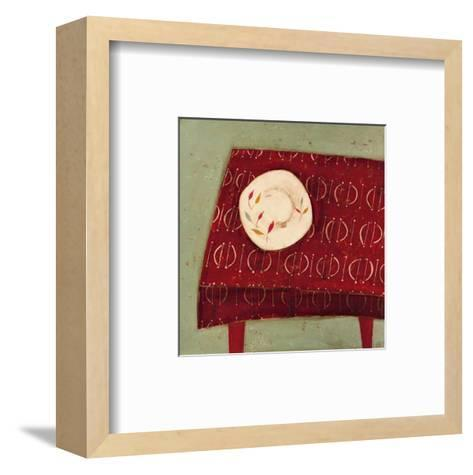 Red Table-Oakley-Framed Art Print