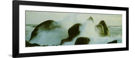 Fighting Waves--Framed Art Print