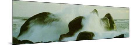 Fighting Waves--Mounted Art Print