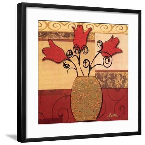 Tulip Trio-Jill Barton-Framed Art Print