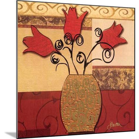 Tulip Trio-Jill Barton-Mounted Art Print