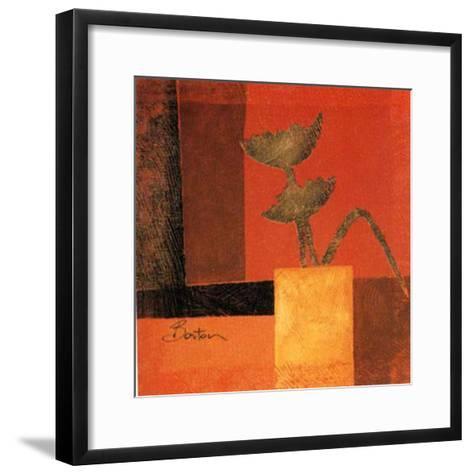 Golgen Leaves I-R Barton-Framed Art Print