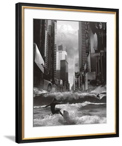 Swell Time in Town-Thomas Barbey-Framed Art Print