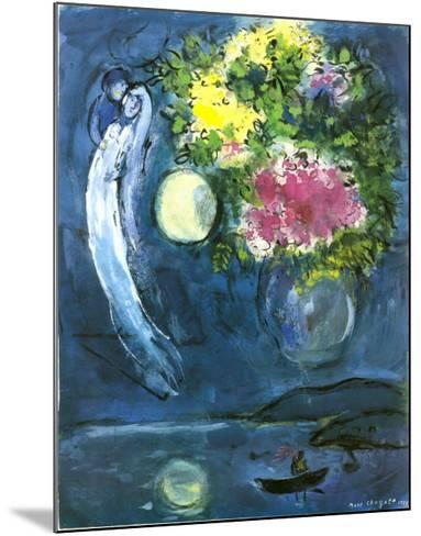 Lovers with Bouquet, c.1949-Marc Chagall-Mounted Art Print