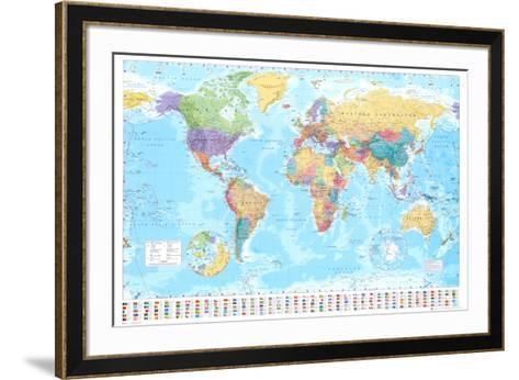 World Map--Framed Art Print