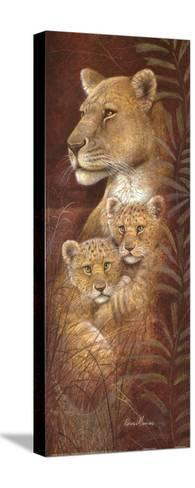 Serengeti Twins-Ruane Manning-Stretched Canvas Print