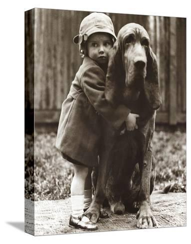 Girl's Best Friend--Stretched Canvas Print
