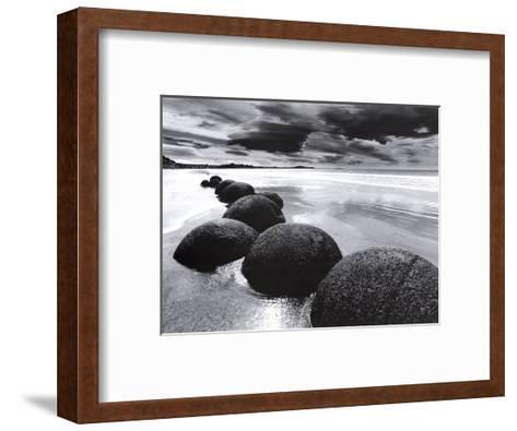 Boulders on the Beach--Framed Art Print