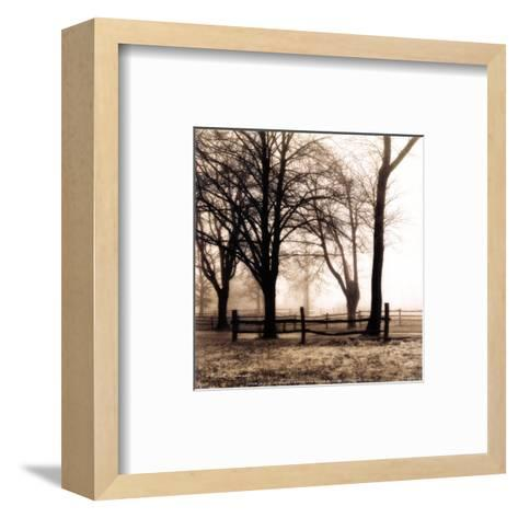 Woods with Fence-Harold Silverman-Framed Art Print